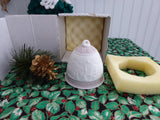 Lladro Christmas Bell 1991 Nativity Snow Scene Lavender Christmas Star Annual Bell In Box