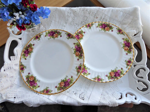 Royal Albert Old Country Roses Dinner PlatePair 1993-2002 Last English Made