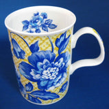Mug Roy Kirkham Woburn Blue Floral on Yellow Gorgeous England