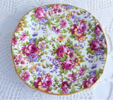 Summertime Chintz Royal Winton Cup And Saucer 1995 Reissue Pink Blue Floral