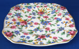 Royal Winton Grimwades Old Cottage Chintz Square Side Plate Bread Cake 1995 Reissue