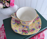 Cup And Saucer Welbeck Chintz Royal Winton 1995 Reissue Made For Victoria Magazine