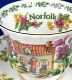 English Country Cottages Royal Albert Norfolk English Cottages Cup and Saucer