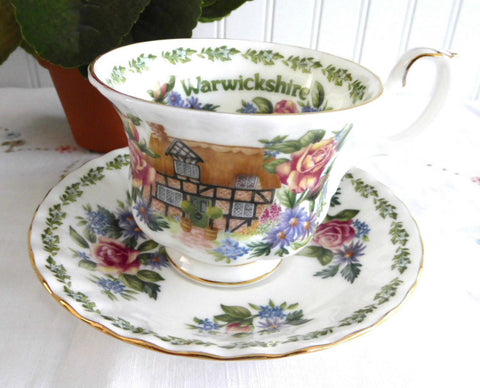 Cup And Saucer Royal Albert Warwickshire English Country Cottages Bone China Afternoon Tea