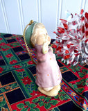 Cute Goebel Hummel Ornament 1997 Stocking For Dolly Porcelain Girl With Doll