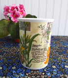 Colorful Iris Lilies Daffodils Botanical Mug Roy Kirkham Secret Garden 1997 Bone China
