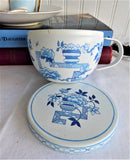 Teacup Shape Tea Tin Blue And White Oriental Tea Caddy Trinket Box