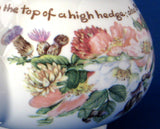 Teapot English Bone China Country Flowers Of  A Victorian Lady Poetry