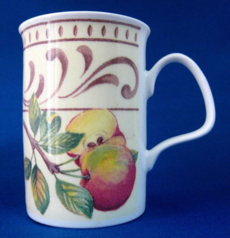 Mug Roy Kirkham Antiqua Blueberries Apples Pear English Bone China