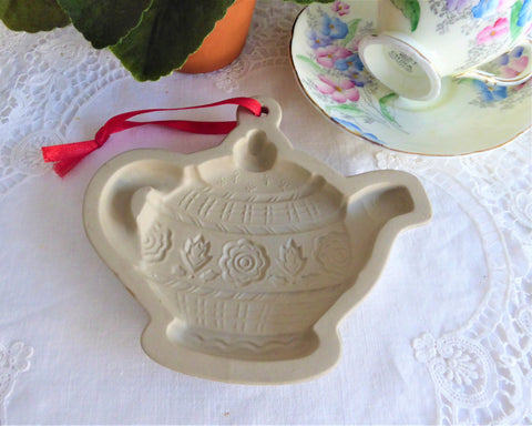 Mary Englebreit Teapot Cookie Mold 1999 Original Tags Large Tea Party Cookie