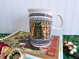 Dunoon Mug Sue Scullard Christmas Tree Windows Toys Stoneware Holiday Cats