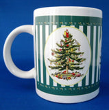 Christmas Tree Spode Mug Licensed Ceramic Green Stripes 2001