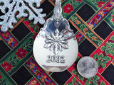 Gorham Chantilly Serving Spoon Sterling 2002 Christmas Snowflake Holiday Tea