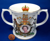 Mug Golden Jubilee Of Queen Elizabeth II 50 Years 2002 Loving Cup