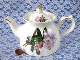 Royal Patrician Rhododendron Teapot Pink And Mauve English Azaleas Tea Party