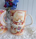 Royal Albert Lady Carlyle Collage Mug Pair Afternoon Tea Series Elegant Tea Mugs