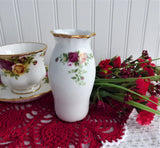 Old Country Roses Vase 4.5 Inch Royal Albert Bone China Not English