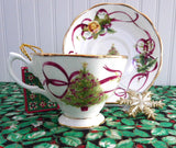 Holiday Royal Albert Old Country Roses Cup and Saucer Christmas Tree