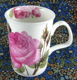 Mug Roy Kirkham Les Roses Pink Maroon English Bone China New