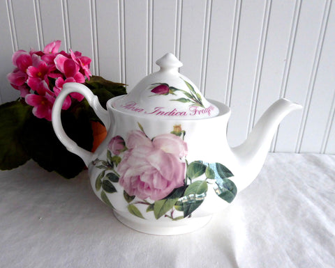 Versailles Pink Rose Teapot English Bone China 6 Cups 40 Ounces Roy Kirkham