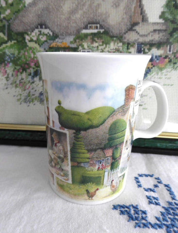 Mug Dunoon England Cottage Life Thatched Cottage Topiaries Country Folk At Home