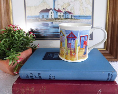 Dunoon By The Sea Mug Emma Ball Beach Huts Boats Chairs New 2007 By The Sea