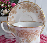 Cup And Saucer Royal Albert Old Country Roses Gold 2007 Brush Gold OCR Coordinate