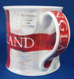 Cross Of St George Mug Dunoon England Flag Red And White English Bone China