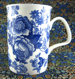 Mug Roy Kirkham Blue Victorian Chintz English Bone China Blue And White