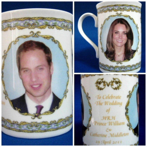 Prince William And Catherine Royal Wedding Mug English Bone China 2011