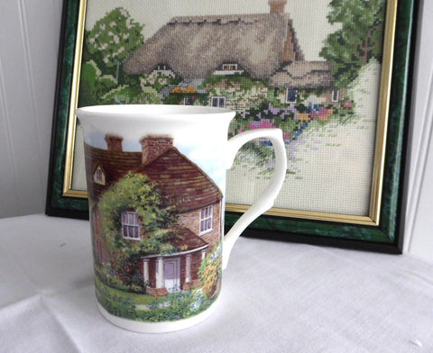 English Bone China Mug Adderley Water Wheel Cottage And Garden