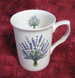Lavender Bouquet Mug Adderley English Bone China Purple White