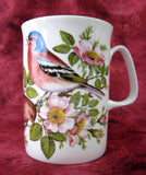 English Robin Mug English Bone China Wild Roses Birds Mug Rose England