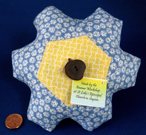 Pin Cushion Vintage Fabrics Hand Made USA New Church Fund Raiser Artisan Made