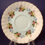 Saucer Only Royal Albert Floral England Bone China Robins Egg Band Flower Garland 1930s - Antiques And Teacups - 1