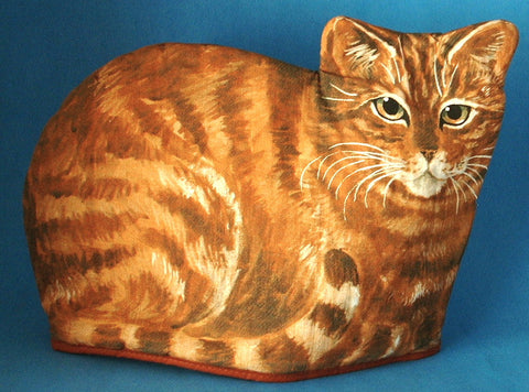 Orange Tabby Cat Tea Cozy Signed Large Cosy Ireland 1970s Cat Shaped Cozy