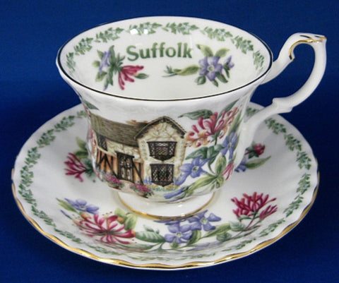 Royal Albert Suffolk English Cottages Cup and Saucer English Country Cottages - Antiques And Teacups - 1