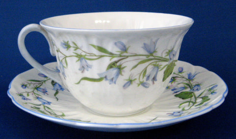 Shelley England Harebell Cup And Saucer Low Oleander Shape Garden Tea Party