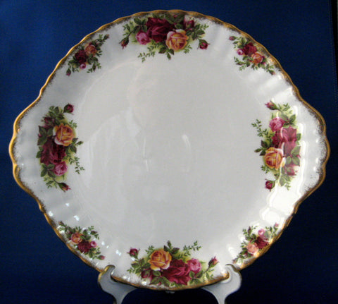 Royal Albert Old Country Roses Cake Plate 1960s Made In England - Antiques And Teacups - 1