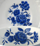 Cup And Saucer Blue Rose Wedgwood Ironstone 1950s Blue And White Tea Cup - Antiques And Teacups - 3