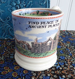 Emma Bridgewater Mug National Trust Countryside Find Peace English Pottery 2005 - Antiques And Teacups - 4