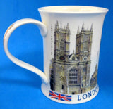 Dunoon Mug London Skyline Tower Of London Big Ben Tall English Bone China - Antiques And Teacups - 1