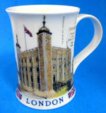 Dunoon Mug London Skyline Tower Of London Big Ben Tall English Bone China - Antiques And Teacups - 2