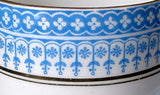 Edwardian Cup And Saucer Royal Stafford Blue White 1900-1910s Glencoe Scottish Arts And Crafts - Antiques And Teacups - 4