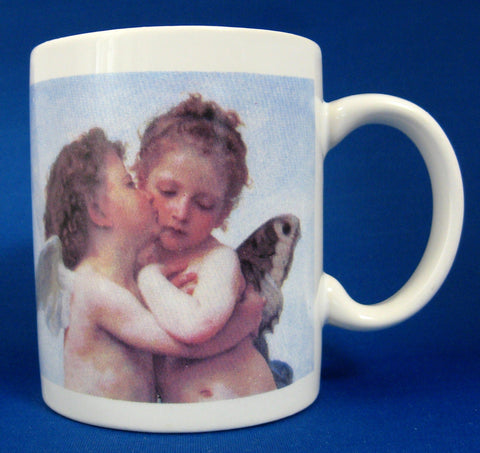 Kissing Angels Mug Fairies Ceramic Cute Cherubs Valentines Day Love Token Tea Coffee - Antiques And Teacups - 1