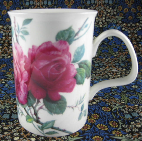 Roy Kirkham Mug English Rose Pink Roses English Bone China - Antiques And Teacups - 1