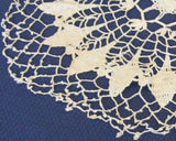 Doily Crocheted Thread Picot Lacy Star Ecru English - Antiques And Teacups - 2