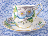 Royal Albert September Morning Glory Cup And Saucer Flower Of The Month 1940s - Antiques And Teacups - 4
