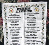Tea Towel Yorkshire Expressions Linen Ah'm Fair Clemmed Fun! - Antiques And Teacups - 3