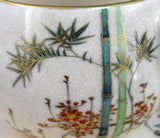 Cup And Saucer Satsuma Meji Period Kizan Bamboo Floral Lovely c. 1900 - Antiques And Teacups - 2
